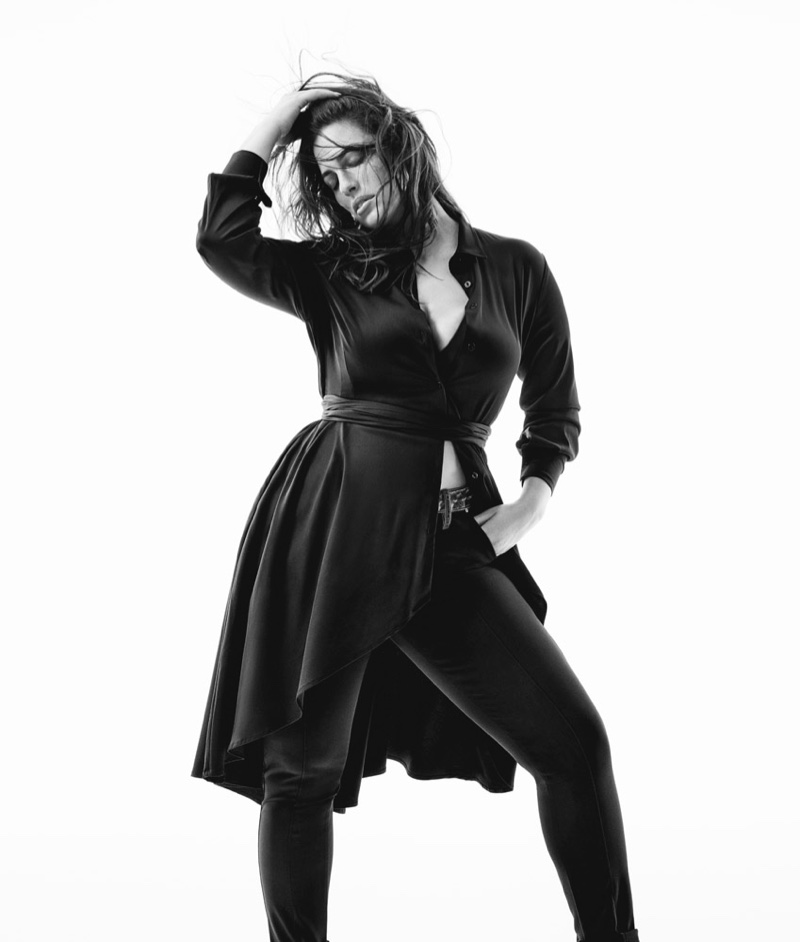 Ashley Graham fronts Ashley Graham x Marina Rinaldi Denim fall-winter 2019 campaign