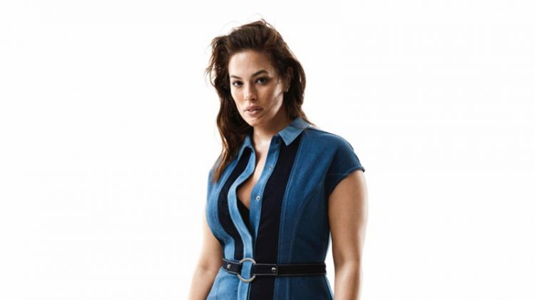 Flaunting her curves, Ashley Graham fronts Marina Rinaldi denim fall-winter 2019 campaign