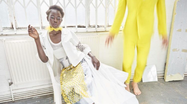 Aweng Chuol Poses in Bright Styles for How to Spend It Magazine