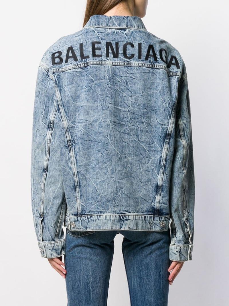 Balenciaga Logo Denim Jacket $1,290
