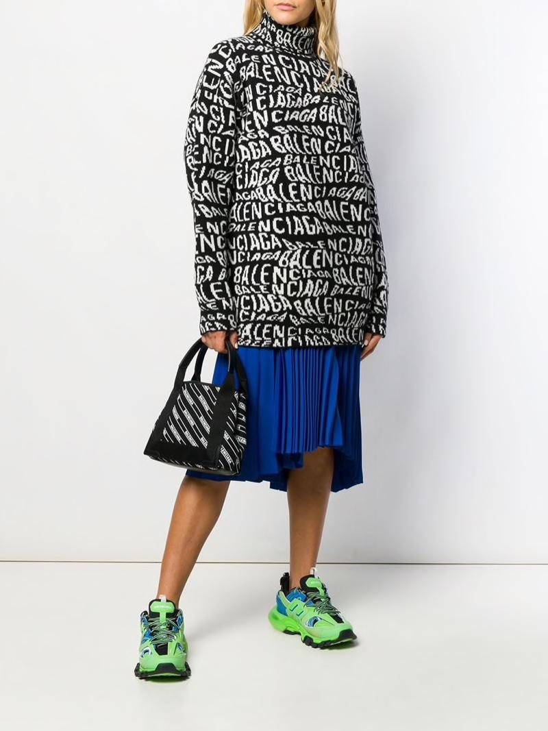 Balenciaga Turtleneck Logo Sweater $1,290