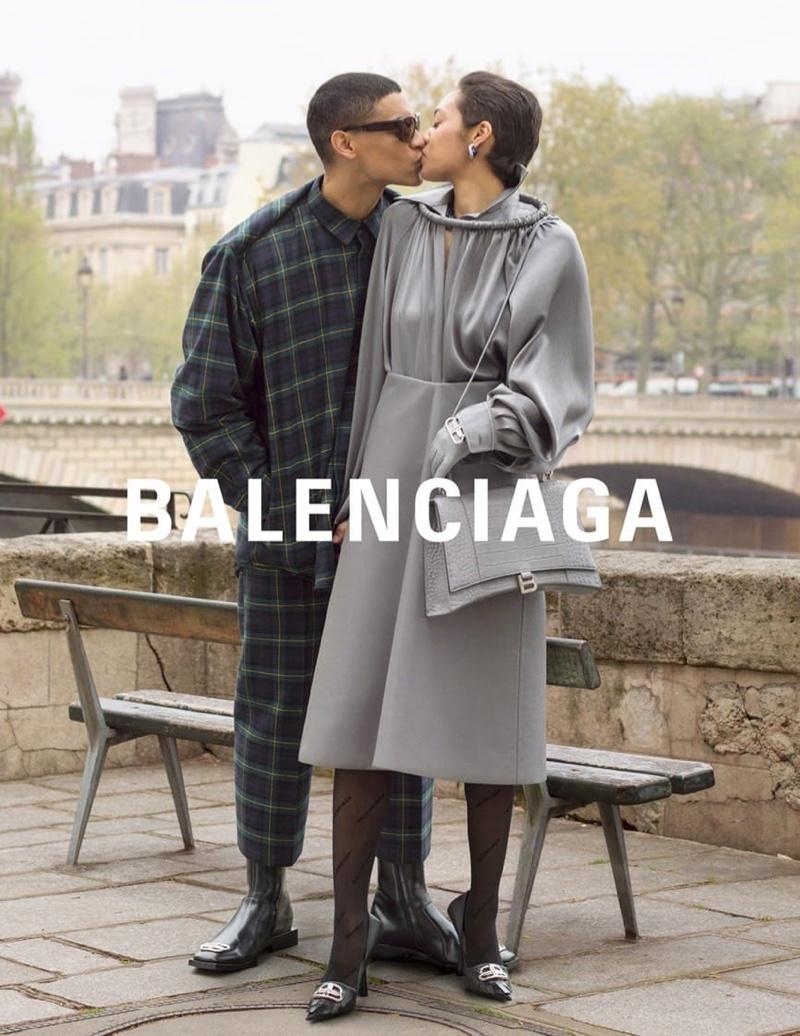 Balenciaga unveils winter 2019 campaign featuring model couples