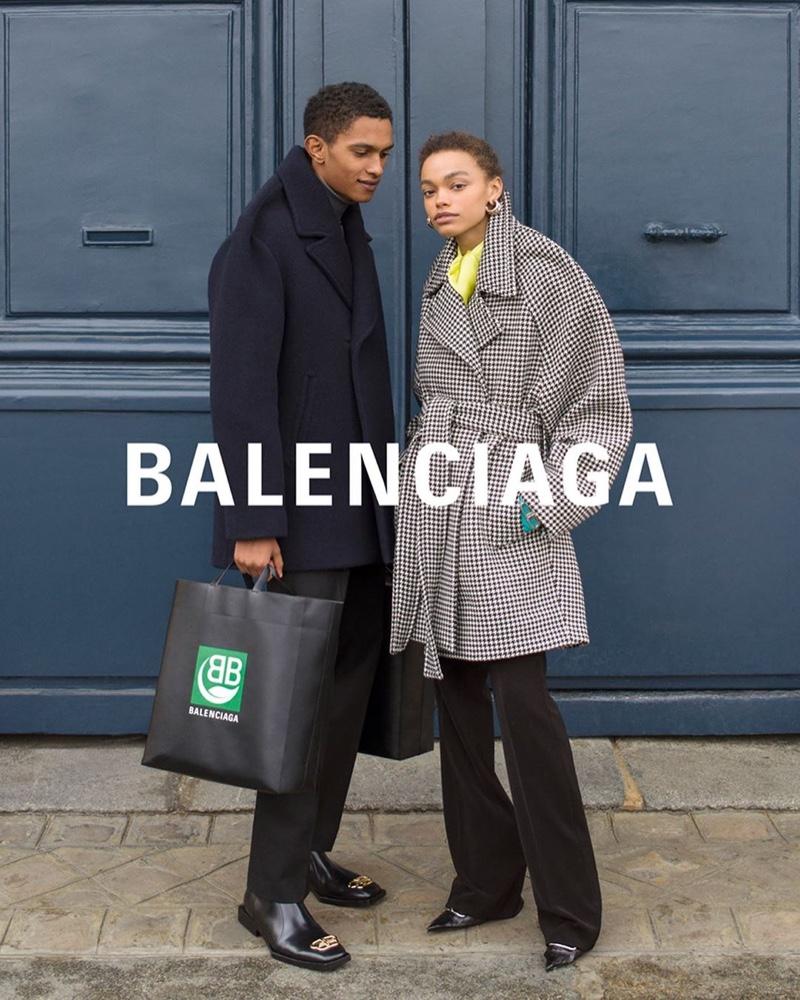 Matthew Seymour and Alesis Sundman front Balenciaga winter 2019 campaign