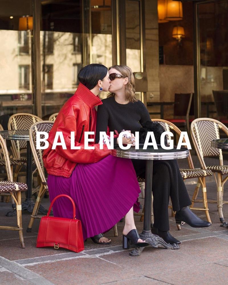 Elsa Sjokvist and Asta Stensson star in Balenciaga winter 2019 campaign