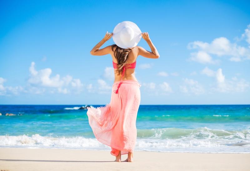 Beach Sarong Bikini Model