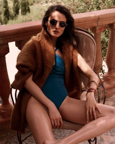 Blanca Padilla Models Vacation-Ready Looks for Harper's Bazaar Spain