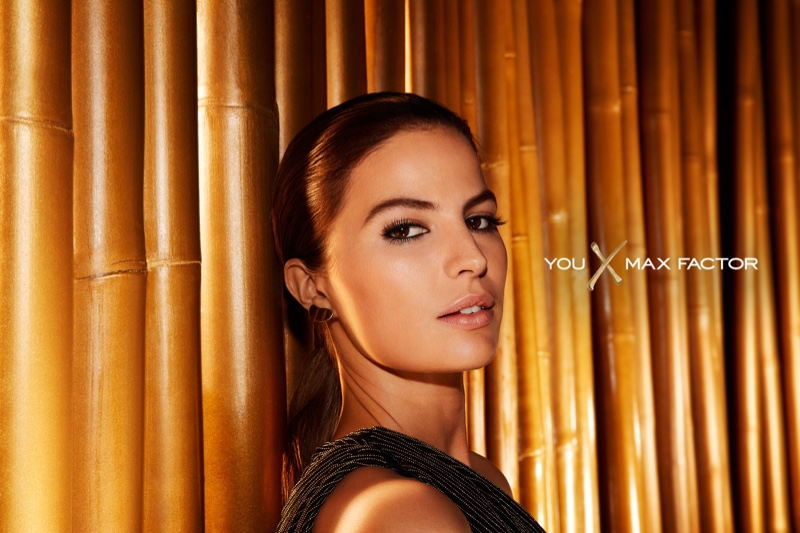 An image from Max Factor campaign starring Cameron Russell