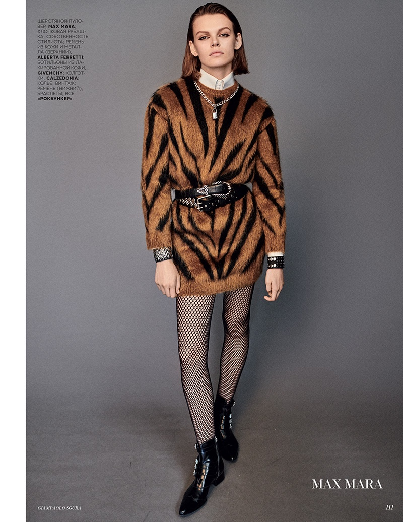 Cara Taylor Wears the Fall Collections for Vogue Russia