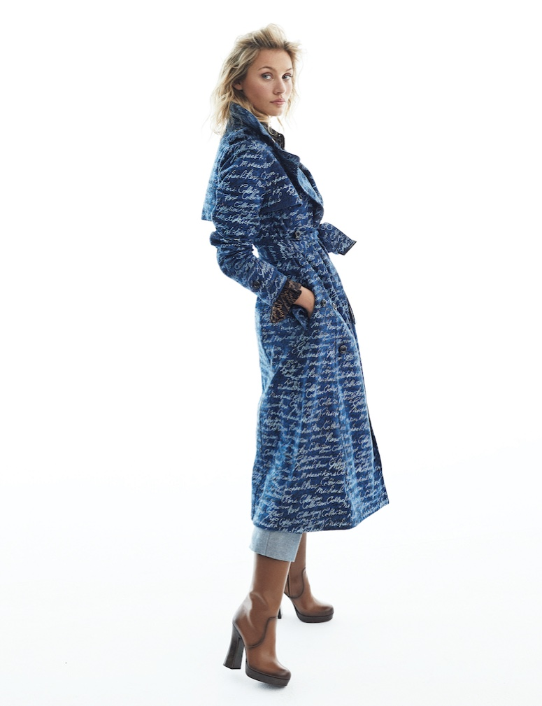 Caroline Corinth Models Stylish Denim for ELLE Spain