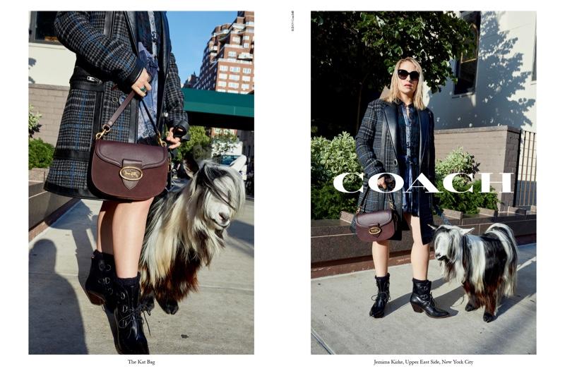Jemima Kirke appears in Coach fall-winter 2019 campaign