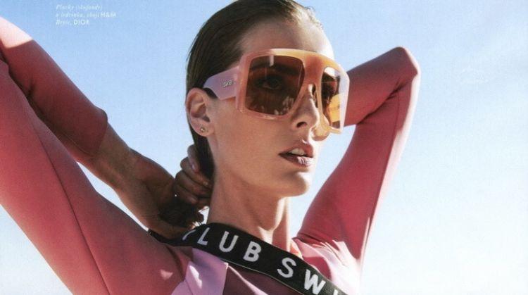 Denisa Dvorakova Models Beachwear Looks for ELLE Czech