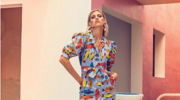 Devon Windsor Poses in Summer Styles for Ocean Drive