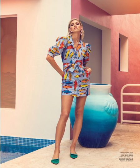 Devon Windsor Poses in Summer Styles for Ocean Drive