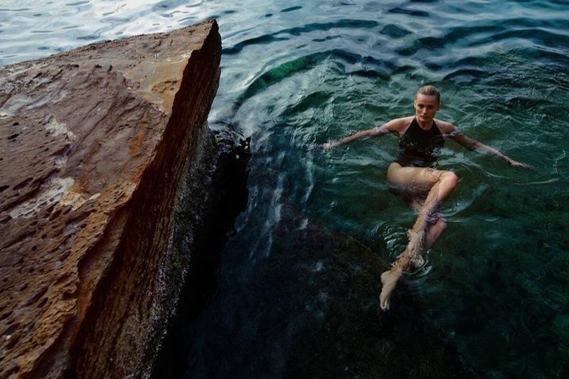 Edita Vilkeviciute Tries On Sleek Summer Styles for Vogue Poland
