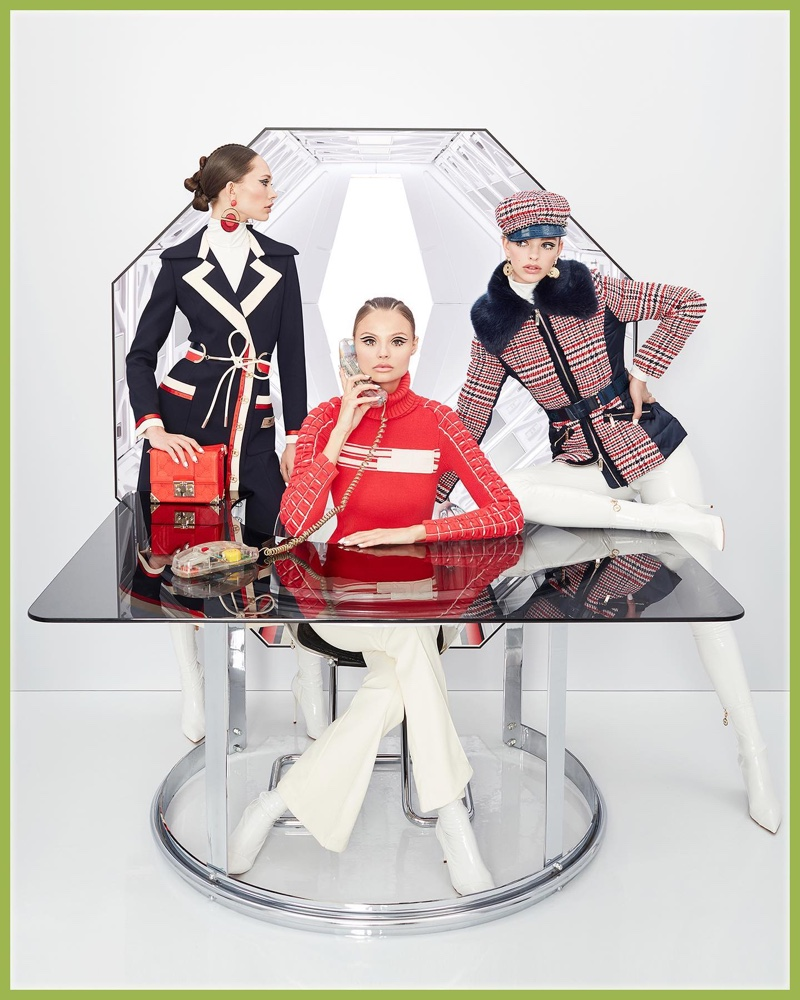 Elisabetta Franchi channels futuristic vibes for its fall-winter 2019 campaign