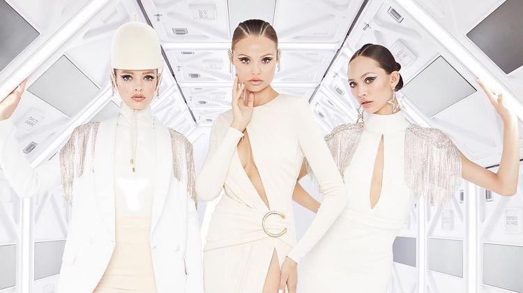 Magdalena Frackowiak Goes Futuristic in Elisabetta Franchi Fall 2019 Ads