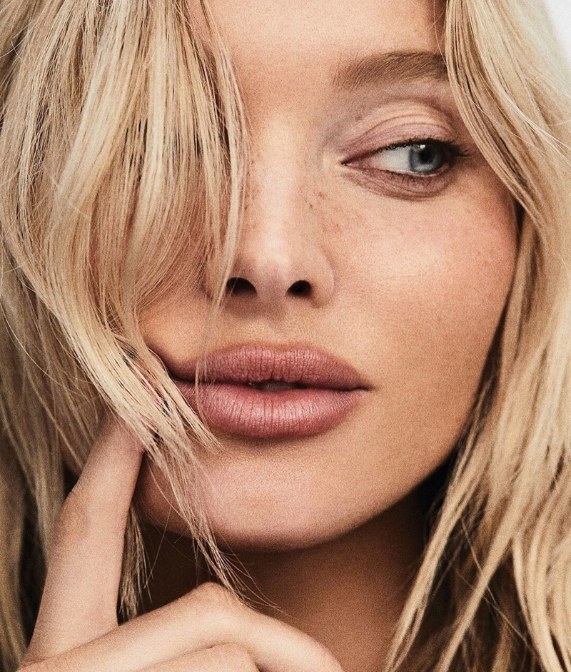 Elsa Hosk gets her closeup in this beauty shot