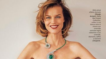 Eva Herzigova Sparkles in Chopard Jewelry for Grazia Italy