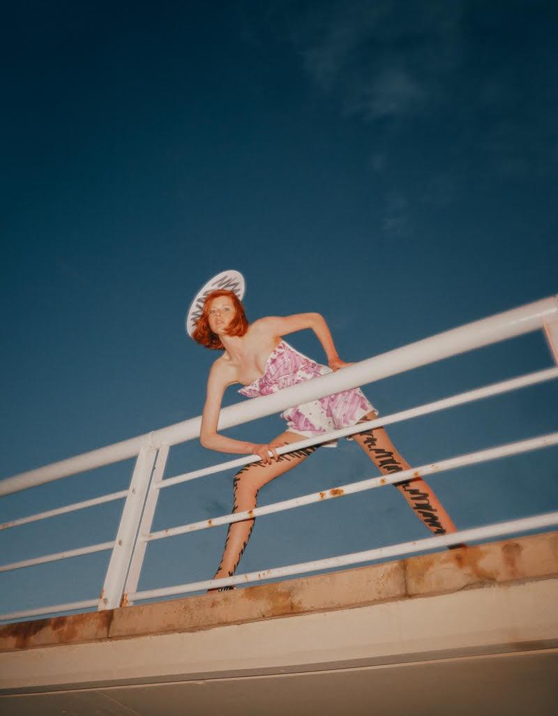 Fabienne Dobbe Models Romantic Dresses for ELLE Turkey