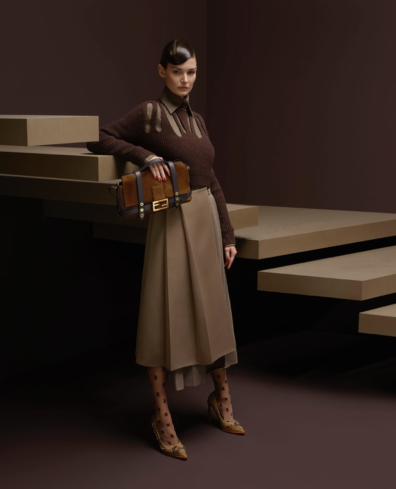 Ophelie Guillermand stars in Fendi fall-winter 2019 campaign