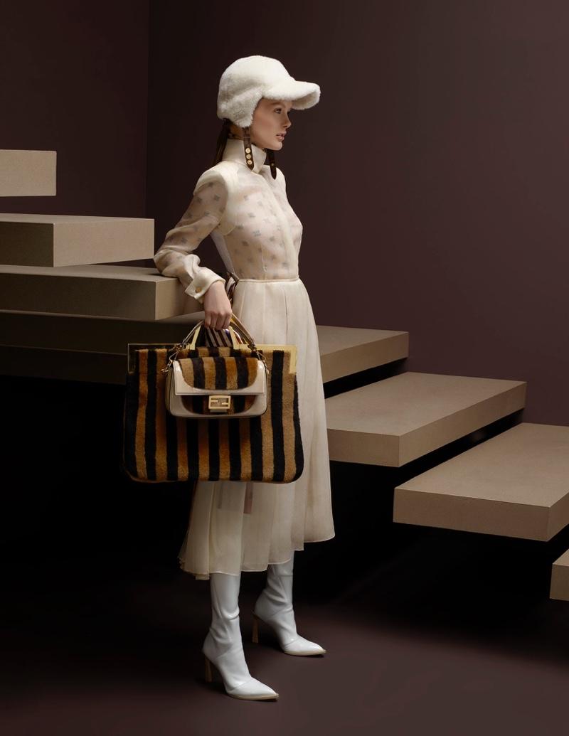 Kris Grikaite appears in Fendi fall-winter 2019 campaign