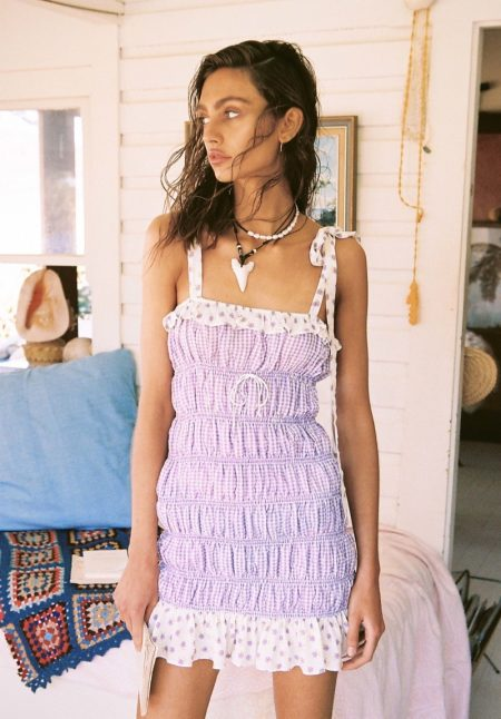 Krini Alejandra stars in For Love & Lemons High Summer 2019 campaign