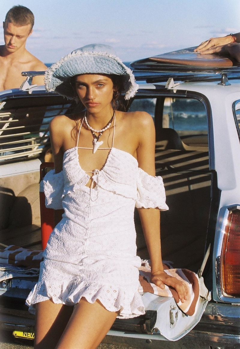 Krini Alejandra fronts For Love & Lemons High Summer 2019 campaign