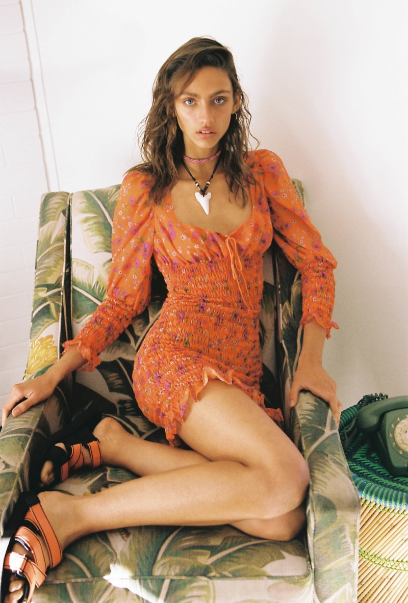 Krini Alejandra models For Love & Lemons High Summer 2019 collection