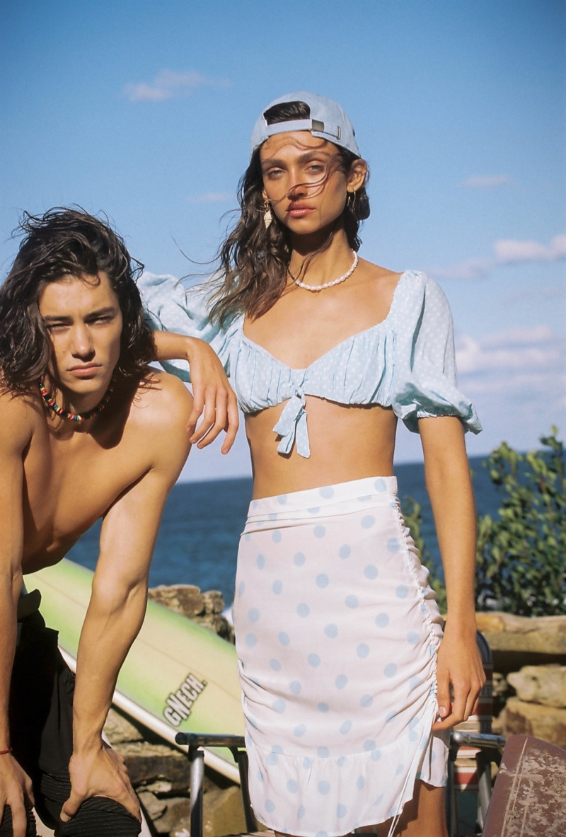 A look from For Love & Lemons' High Summer 2019 collection