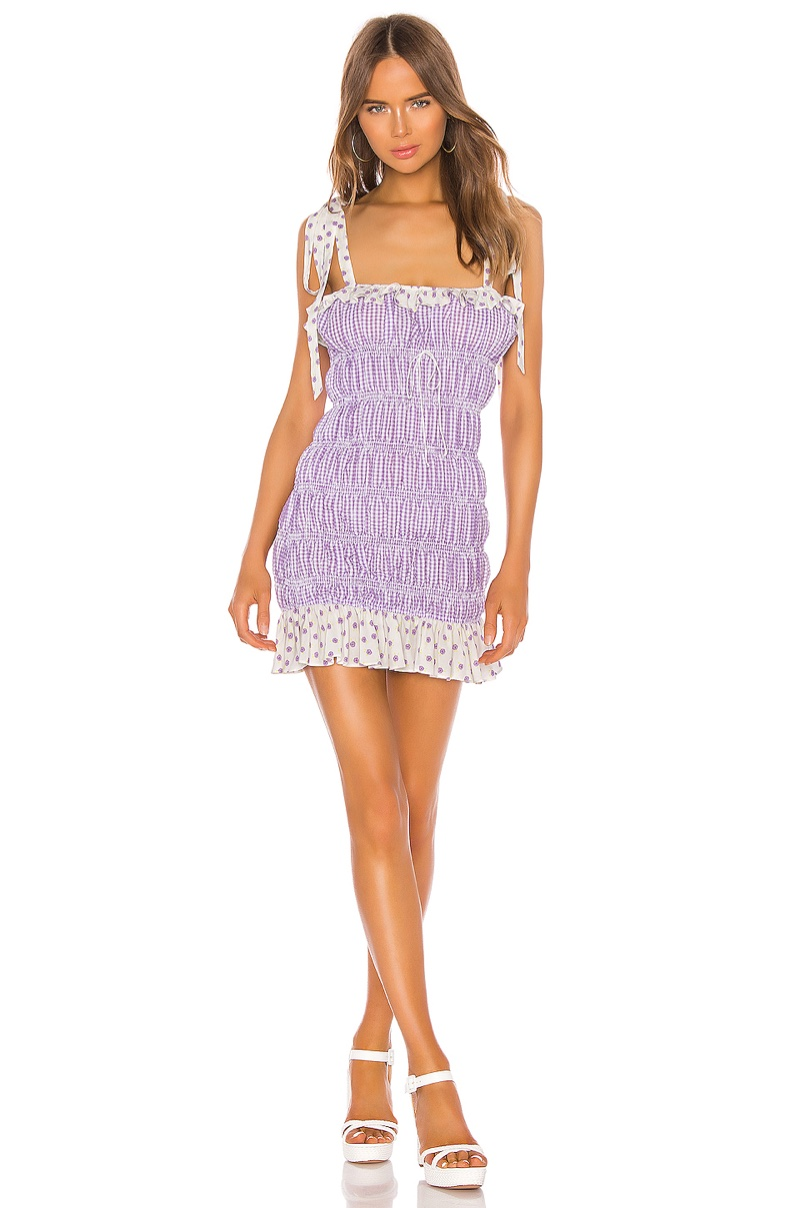 For Love & Lemons Lilac Mini Dress $216