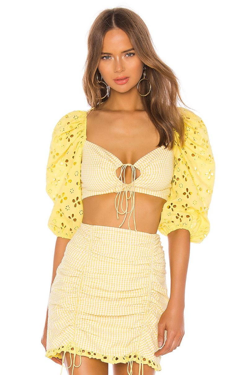 For Love & Lemons Picnic Crop Top $158