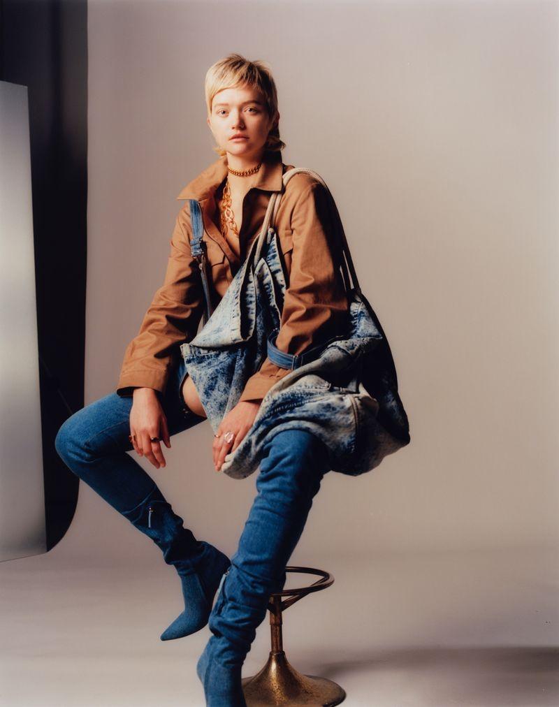 Gemma Ward Embraces Daring Denim for M Le Magazine du Monde
