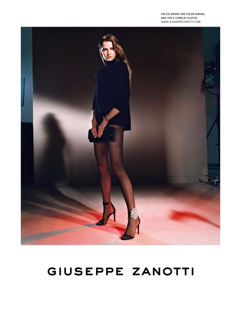 Felice Noordhoff stars in Giuseppe Zanotti fall-winter 2019 campaign