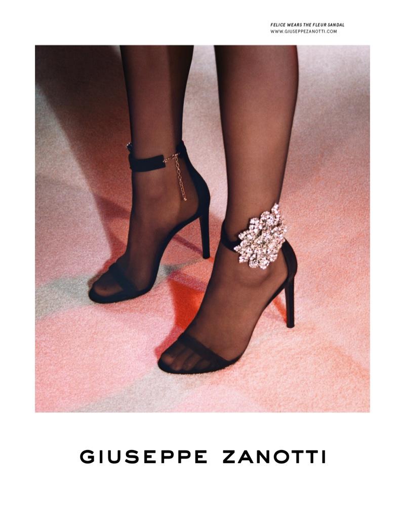 Giuseppe Zanotti Fleur sandal featured in fall-winter 2019 campaign