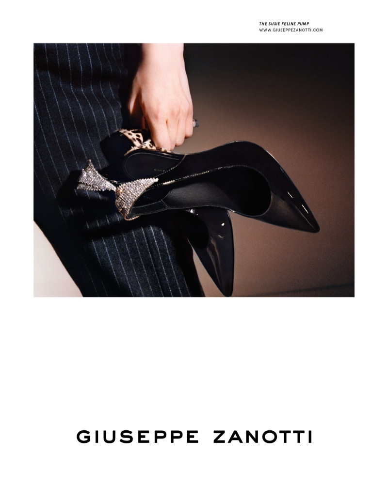 Giuseppe Zanotti spotlights Susie Feline pumps in fall-winter 2019 campaign