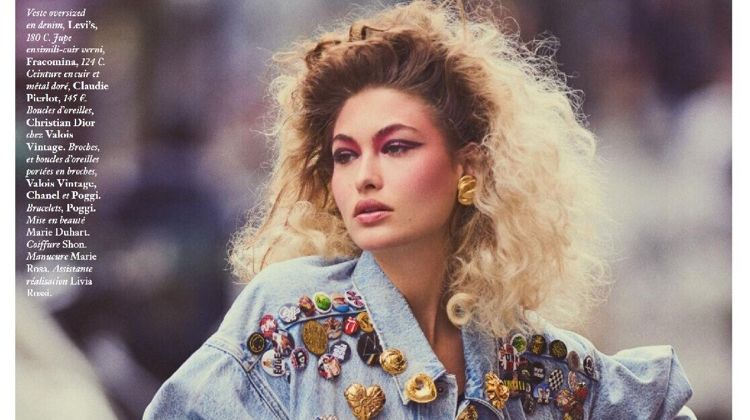 Grace Elizabeth Channels 1980's Glamour for Vogue Paris