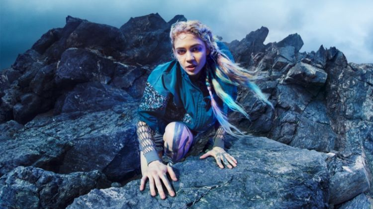Grimes stars in adidas by Stella McCartney fall-winter 2019 campaign