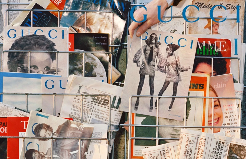 Gucci reimagines the newsstand for its fall-winter 2019 campaign