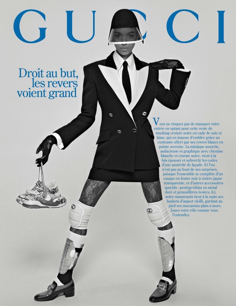 Otto Zinsou stars in Gucci fall-winter 2019 campaign