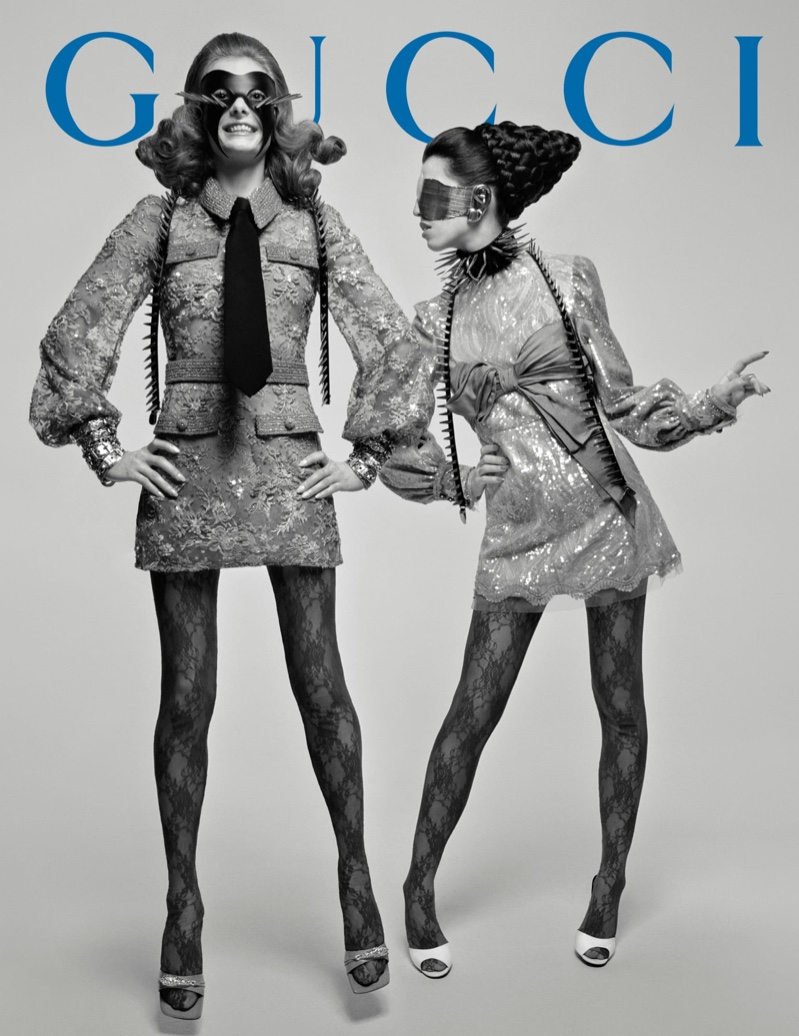 Models strike poses for Gucci fall-winter 2019 campaign