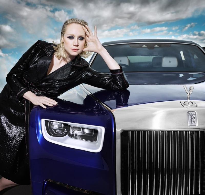 Gwendoline Christie poses for Rolls-Royce Phantom - Rules Rewritten film. Photo: Rankin