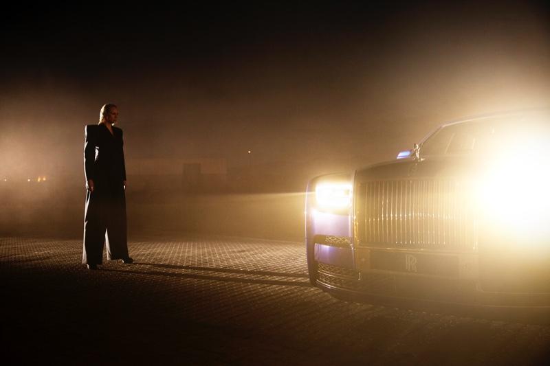 Actress Gwendoline Christie behind the scenes at Rolls-Royce Phantom film