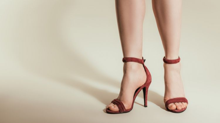 Heeled Sandals Red