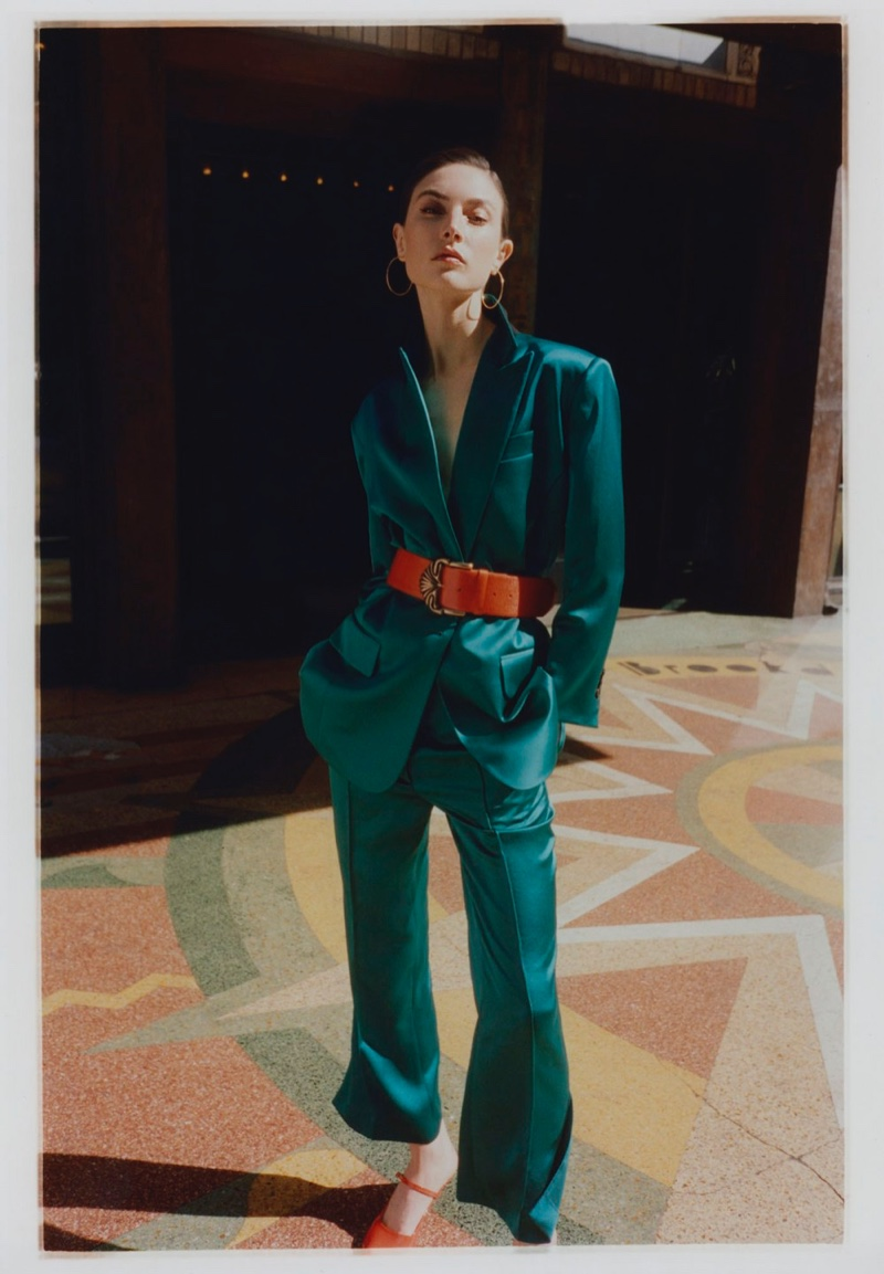 Jacquelyn Jablonski Suits Up in Rainbow Hues for Vogue Poland