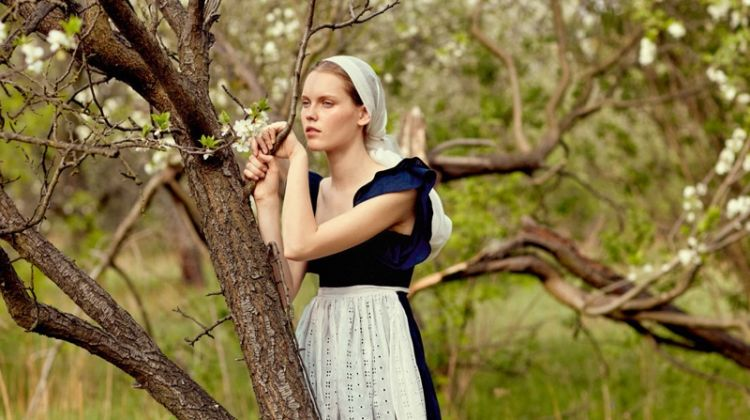 Karina Kurzacz is a Natural Beauty for Fashion Poland