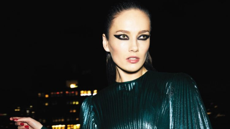 Karmen Pedaru Gets Glam in Nighttime Looks for ELLE