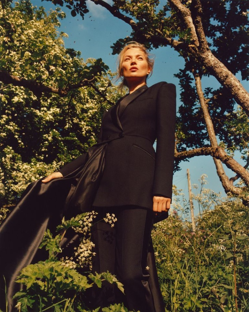 Kate Moss suits up for Alexander McQueen fall-winter 2019 campaign