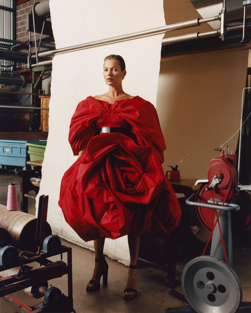Dressed in red, Kate Moss fronts Alexander McQueen fall-winter 2019 campaign