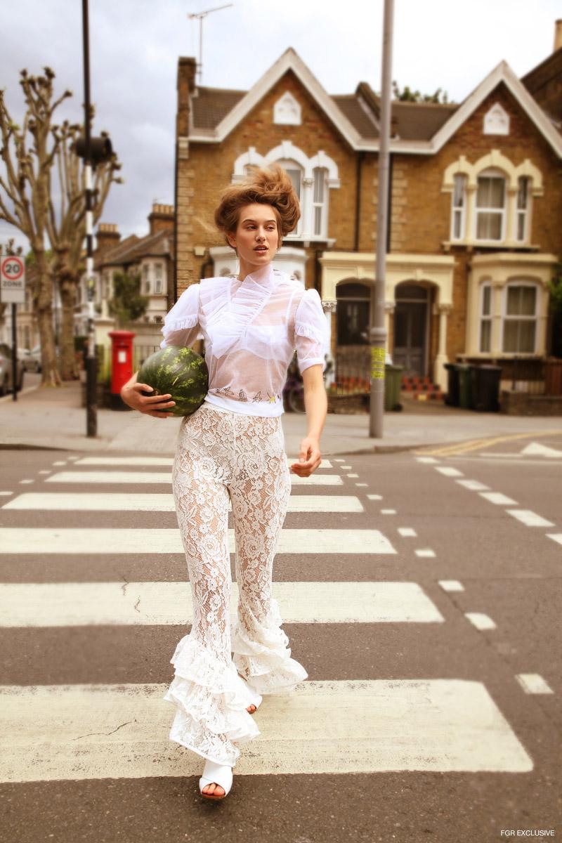 Top CAR2IE, Bra Fruity Booty, Trousers Esthe, Shoes Zara and Necklace Sondr London. Photo: Kay Sukumar