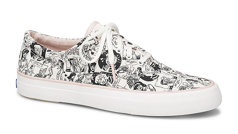 Keds x Betty & Veronica Anchor Comic Sneaker in White $69.95